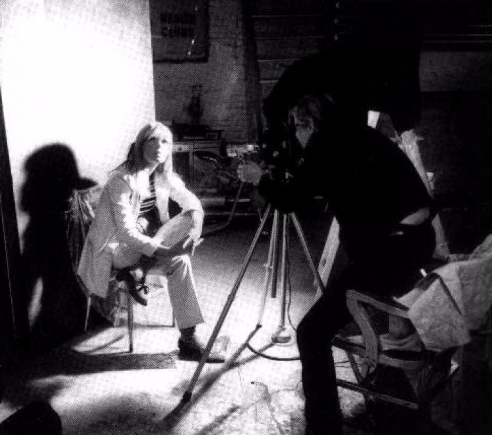 Nico e Andy Warhol durante le riprese di Chelsea Girls