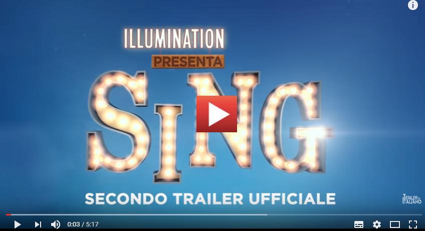PER VEDERE IL VIDEO CLICCARE SULL'IMMAGINE SING - Nuovo trailer italiano della commedia musicale d'animazione [HD]