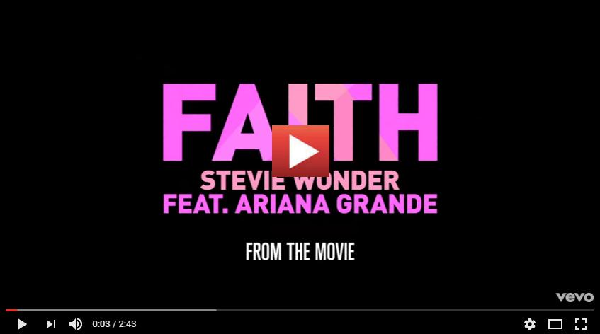 PER VEDERE IL VIDEO CLICCARE SULL'IMMAGINE Stevie Wonder - Faith ft. Ariana Grande