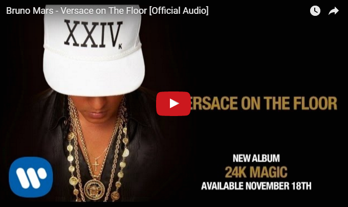 PER VEDERE IL VIDEO CLICCARE SULL'IMMAGINE Bruno Mars - Versace on The Floor [Official Audio]
