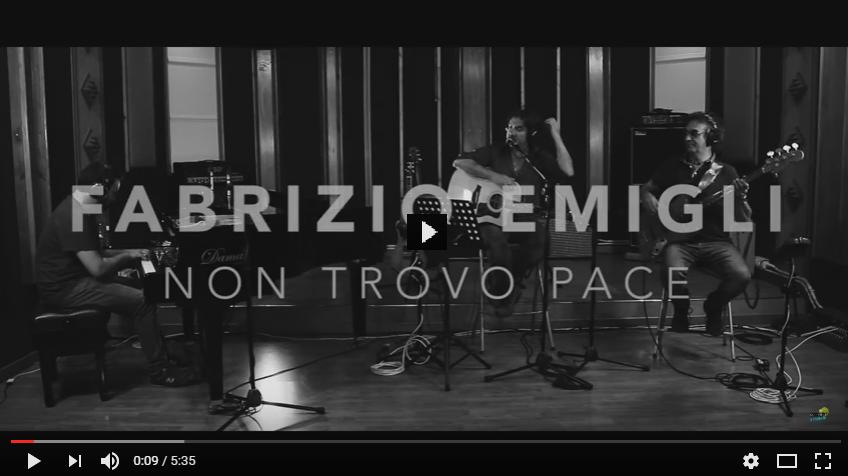 PER VEDERE IL VIDEO CLICCARE SULL'IMMAGINE Fabrizio Emigli | Non trovo pace | Live @ Village Recording Studio