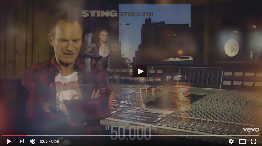 """PER VEDERE IL VIDEO CLICCARE SULL'IMMAGINE Sting - 57th & 9th (""""50,000""""/Webisode)"""