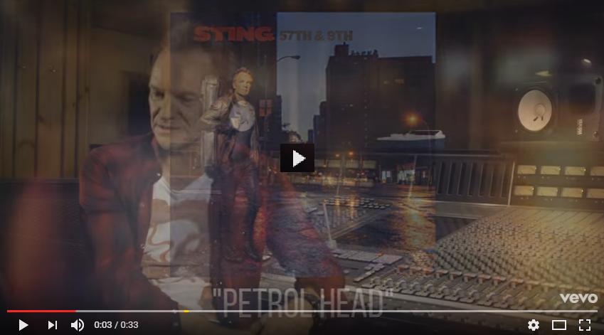 """PER VEDERE IL VIDEO CLICCARE SULL'IMMAGINE Sting - 57th & 9th """"Petrol Head"""" (Webisode)"""