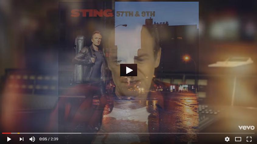"""PER VEDERE IL VIDEO CLICCARE SULL'IMMAGINE Sting - 57th & 9th """"Album Focus"""" (Webisode)"""