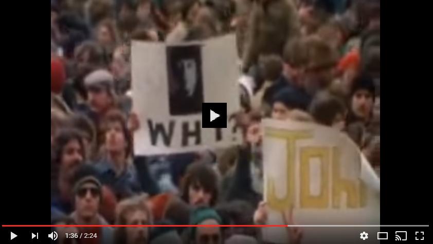 PER VISUALIZZARE IL VIDEO CLICCARE SULL'IMMAGINE John Lennon is dead - Funeral