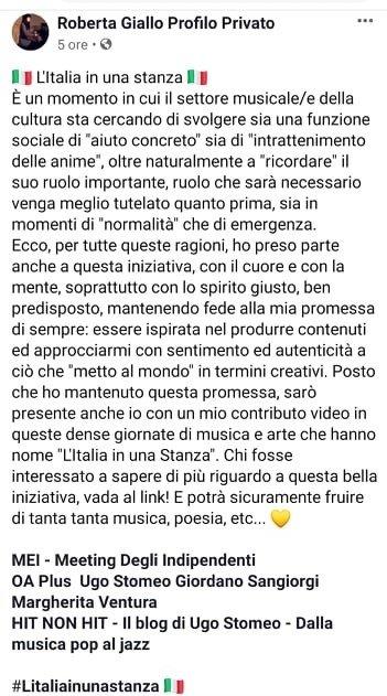 Roberta Giallo L'Italia in una stanza